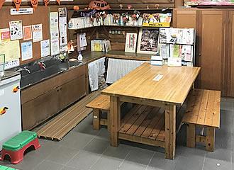 飲食コーナーの写真
